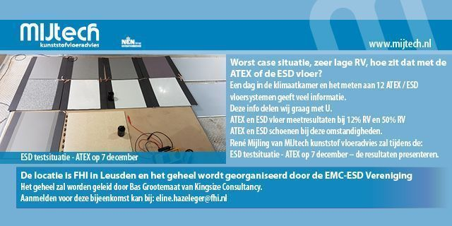 ESD testsituatie ATEX op 7 december FHI in Leusden